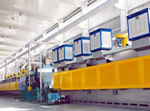 Bearing heat treatment production line